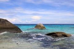 Praia de ilhas de Similan em Phang Nga Fotos de Stock Royalty Free