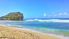Praia de Indrayanti Fotografia de Stock