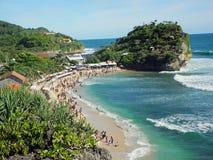 Praia de Indrayanti foto de stock royalty free