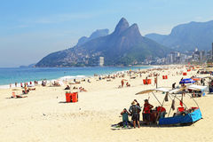 Praia de Ipanema foto de stock royalty free