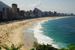 Praia de Ipanema e de Leblon Fotos de Stock Royalty Free