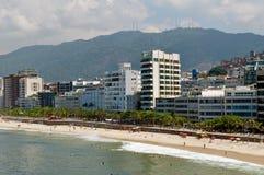 Praia de Ipanema em Rio de Janeiro Imagens de Stock Royalty Free