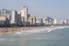 Praia de Ipanema em Rio de Janeiro fotos de stock