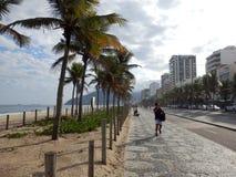 Praia de Ipanema em Rio de Janeiro fotografia de stock