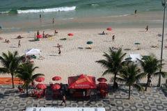 Praia de Ipanema, Rio de Janeiro, Brasil Imagem de Stock