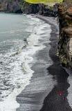 Praia de Islândia Fotografia de Stock Royalty Free