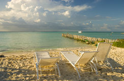 Praia de Isla Mujeres em Cancun, México Fotografia de Stock