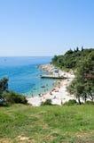 Praia de Istrian Imagem de Stock Royalty Free