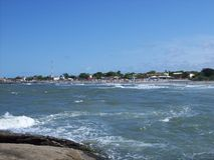 Praia de Itapoa,圣卡塔琳娜州,巴西 免版税图库摄影