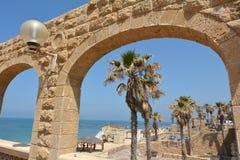 Praia de Jaffa no telefone Aviv Jaffa - Israel Foto de Stock Royalty Free