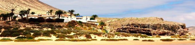 Praia de Jandia do panorama, Fuerteventura Foto de Stock Royalty Free