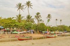 Praia de Jericoacoara em Brasil Fotos de Stock
