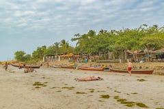 Praia de Jericoacoara em Brasil Fotos de Stock Royalty Free