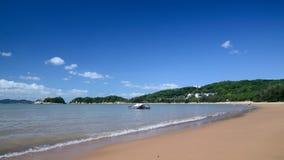Praia de JinSha da montanha de Putuo fotos de stock royalty free