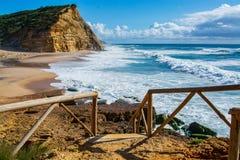 Praia de Juliao do Sao em Ericeira Portugal Imagens de Stock Royalty Free