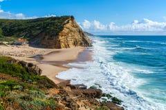 Praia de Juliao do Sao em Ericeira Portugal Imagem de Stock