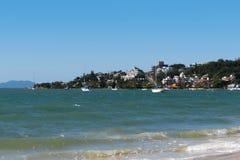Praia de Jurerê - polis do ³ de FlorianÃ, Santa Catarina - Brasil Fotos de Stock Royalty Free