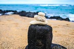 Praia de Kaanapali em Lahaina, Maui, Hava? foto de stock
