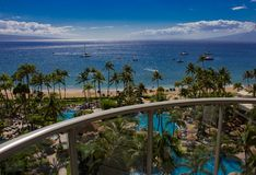 Praia de Kaanapali em Maui imagens de stock