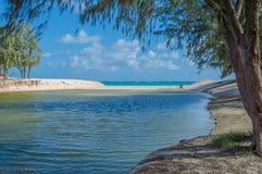 Praia de Kailua Foto de Stock Royalty Free