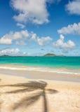 Praia de Kailua, Havaí Fotos de Stock Royalty Free