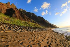 Praia de Kalalau Foto de Stock Royalty Free