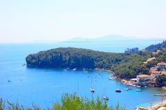 Praia de Kalami, Corfu, Grécia Fotografia de Stock Royalty Free
