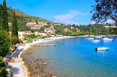 Praia de Kalami, Corfu, Grécia Foto de Stock Royalty Free