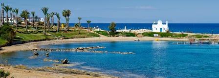 Praia de Kalamies, protaras, Chipre 2 Foto de Stock