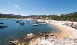 Praia de Kalamitsi, Sithonia Chalkidiki Foto de Stock