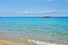Praia de Kalogria imagens de stock