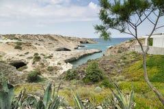 Praia de Kapros nos Milos Imagens de Stock Royalty Free