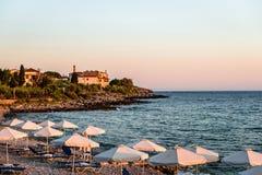 A praia de Kardamili imagem de stock royalty free