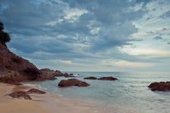 Praia de Kemasik, Terengganu, Malaysia Imagem de Stock
