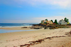Praia de Kennebunk, Maine fotografia de stock