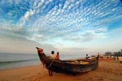 Praia de Kerala Fotografia de Stock