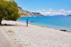 Praia de Kineta, Grécia fotografia de stock royalty free