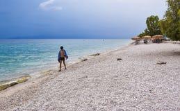 Praia de Kineta, Grécia fotografia de stock
