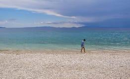 Praia de Kineta, Grécia fotos de stock royalty free