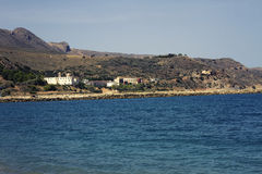 A praia de Kolymvari Imagem de Stock Royalty Free