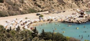 Praia de Konnos Fotografia de Stock
