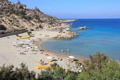 Praia de Konnos Imagem de Stock