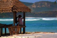 Praia de Kuta em Lombock Imagens de Stock