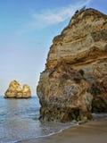 A praia de Lagos apedreja Portugal Imagens de Stock Royalty Free