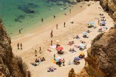 Praia de Lagos, o Algarve, Portugal Fotografia de Stock