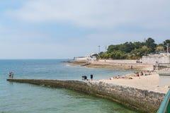 Praia de Laje em Oeiras, Portugal fotografia de stock royalty free