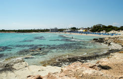 Praia de Landa (praia dourada) Fotografia de Stock Royalty Free