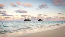Praia de Lanikai, Havaí Fotografia de Stock Royalty Free
