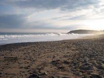 Praia de Lawrencetown no sol de ajuste Fotografia de Stock