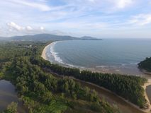 A praia de Layan é uma praia bonita foto de stock
